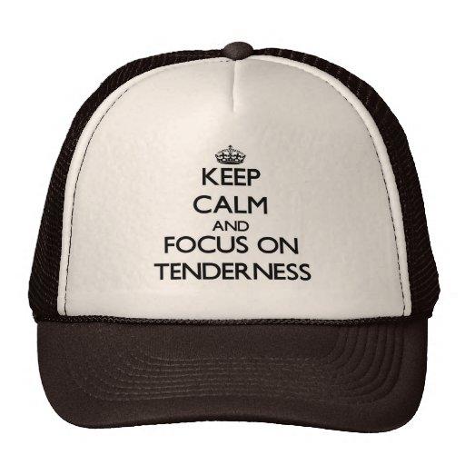 Guarde la calma y el foco en dulzura gorras de camionero