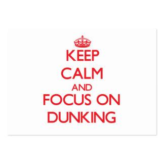 Guarde la calma y el foco en Dunking Tarjetas De Visita