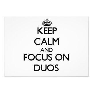 Guarde la calma y el foco en dúos comunicados personales