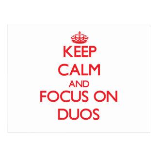 Guarde la calma y el foco en dúos