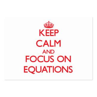 Guarde la calma y el foco en ECUACIONES Tarjeta Personal