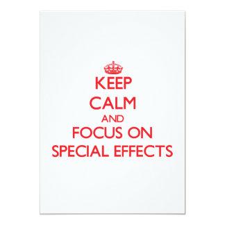 Guarde la calma y el foco en EFECTOS ESPECIALES Invitaciones Personalizada