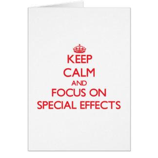 Guarde la calma y el foco en EFECTOS ESPECIALES Tarjetas