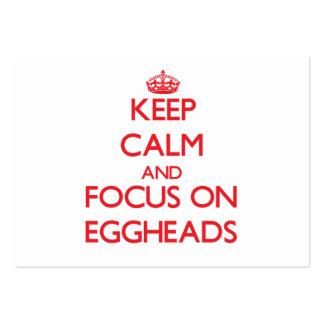 Guarde la calma y el foco en EGGHEADS Tarjetas De Visita Grandes