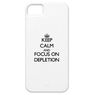 Guarde la calma y el foco en el agotamiento iPhone 5 carcasa