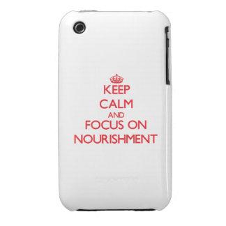 Guarde la calma y el foco en el alimento iPhone 3 cobertura