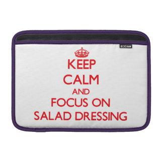 Guarde la calma y el foco en el aliño de ensaladas fundas MacBook