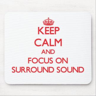 Guarde la calma y el foco en el anillo - sonido alfombrilla de ratón