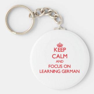 Guarde la calma y el foco en el aprendizaje de llaveros personalizados