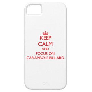 Guarde la calma y el foco en el billar de iPhone 5 carcasa