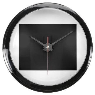 Guarde la calma y el foco en el caramelo de algodó relojes pecera