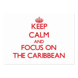Guarde la calma y el foco en el Caribe Tarjeta De Negocio