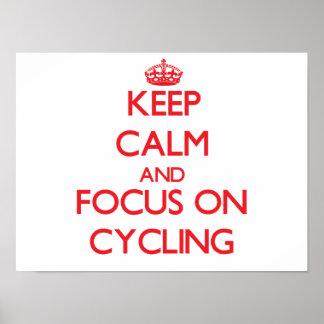 Guarde la calma y el foco en el ciclo