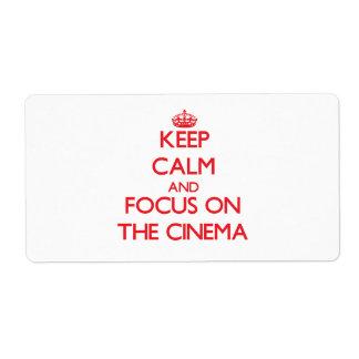Guarde la calma y el foco en el cine