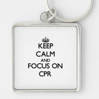 Guarde la calma y el foco en el Cpr Llaveros Personalizados