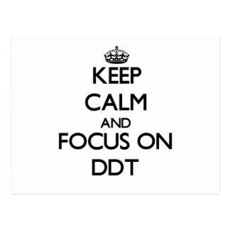 Guarde la calma y el foco en el DDT Postales