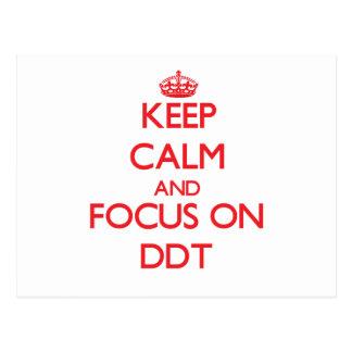Guarde la calma y el foco en el DDT Postal