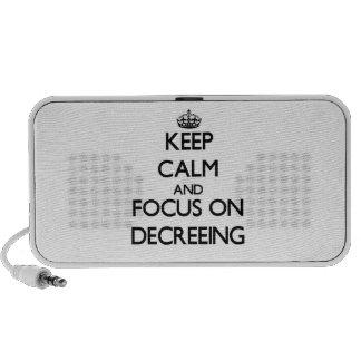 Guarde la calma y el foco en el decreto notebook altavoces