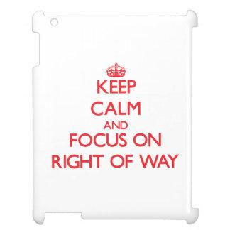 Guarde la calma y el foco en el derecho de paso