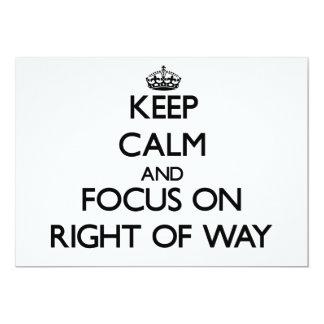Guarde la calma y el foco en el derecho de paso invitación 12,7 x 17,8 cm
