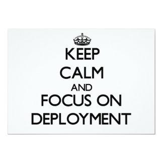 Guarde la calma y el foco en el despliegue invitación personalizada