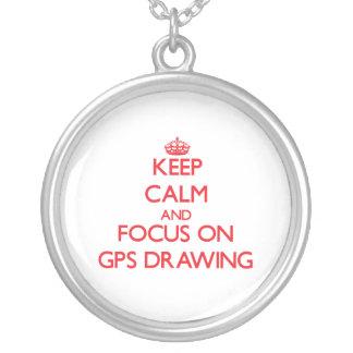 Guarde la calma y el foco en el dibujo de los Gps Grimpolas