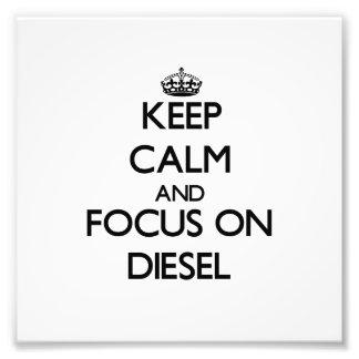 Guarde la calma y el foco en el diesel fotografías