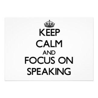 Guarde la calma y el foco en el discurso comunicado personal