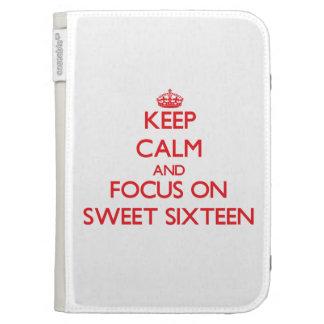 Guarde la calma y el foco en el dulce dieciséis