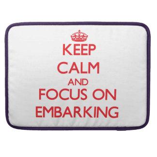 Guarde la calma y el foco en el EMBARCO Funda Para Macbook Pro