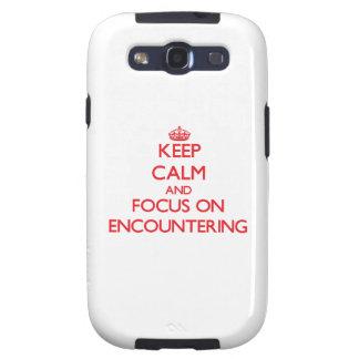 Guarde la calma y el foco en el ENCUENTRO Samsung Galaxy S3 Funda