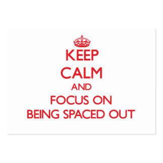 Guarde la calma y el foco en el espaciamiento tarjetas de visita grandes