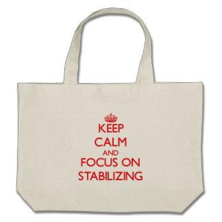 Guarde la calma y el foco en el estabilizador bolsas de mano