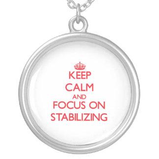 Guarde la calma y el foco en el estabilizador grimpola personalizada