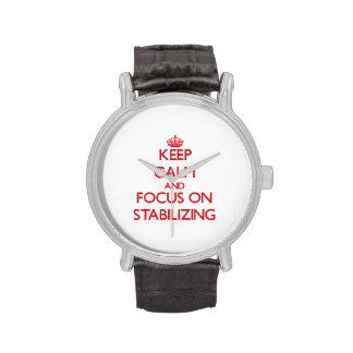 Guarde la calma y el foco en el estabilizador reloj