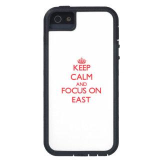 Guarde la calma y el foco en el ESTE iPhone 5 Carcasas