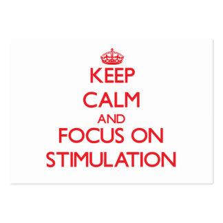 Guarde la calma y el foco en el estímulo