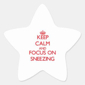 Guarde la calma y el foco en el estornudo