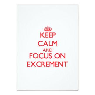 """Guarde la calma y el foco en el EXCREMENTO Invitación 5"""" X 7"""""""