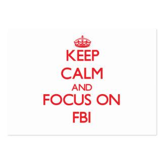Guarde la calma y el foco en el Fbi Tarjetas De Visita Grandes