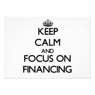 Guarde la calma y el foco en el financiamiento comunicados