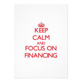 Guarde la calma y el foco en el financiamiento comunicado personalizado