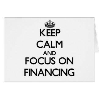 Guarde la calma y el foco en el financiamiento felicitaciones