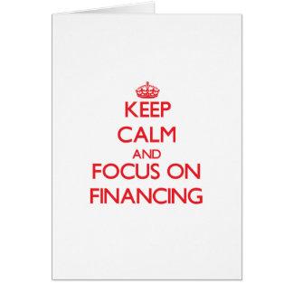 Guarde la calma y el foco en el financiamiento tarjeton