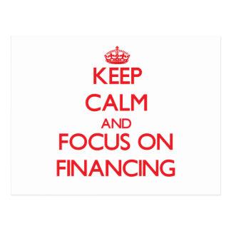 Guarde la calma y el foco en el financiamiento tarjeta postal
