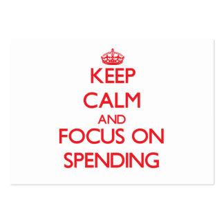 Guarde la calma y el foco en el gasto tarjetas de visita grandes