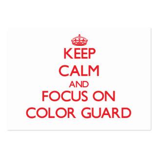 Guarde la calma y el foco en el guardia de honor tarjetas de visita grandes