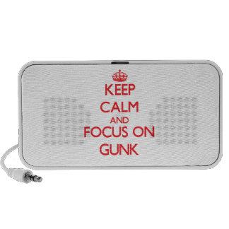 Guarde la calma y el foco en el Gunk Mini Altavoz