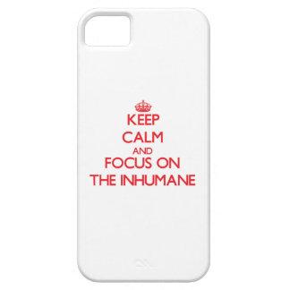 Guarde la calma y el foco en el inhumano iPhone 5 Case-Mate cobertura