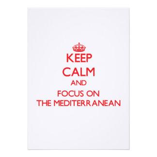 Guarde la calma y el foco en el mediterráneo anuncio personalizado